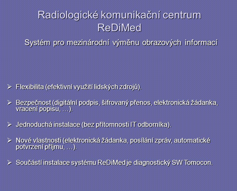 Radiologické komunikační centrum ReDiMed Systém pro mezinárodní výměnu obrazových informací