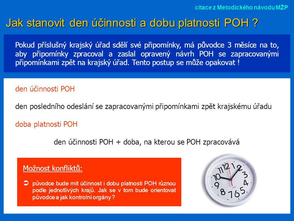 Jak stanovit den účinnosti a dobu platnosti POH