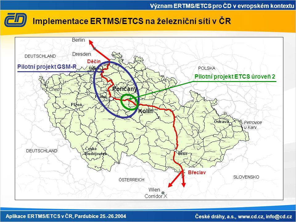 Implementace ERTMS/ETCS na železniční síti v ČR