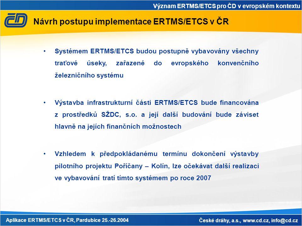 Návrh postupu implementace ERTMS/ETCS v ČR
