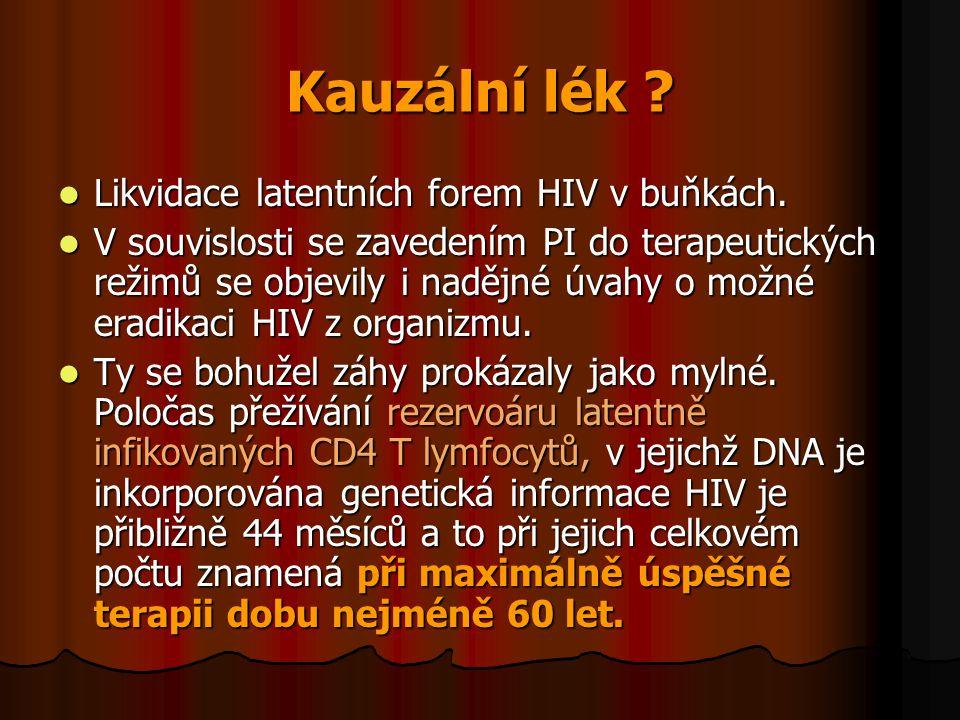 Kauzální lék Likvidace latentních forem HIV v buňkách.