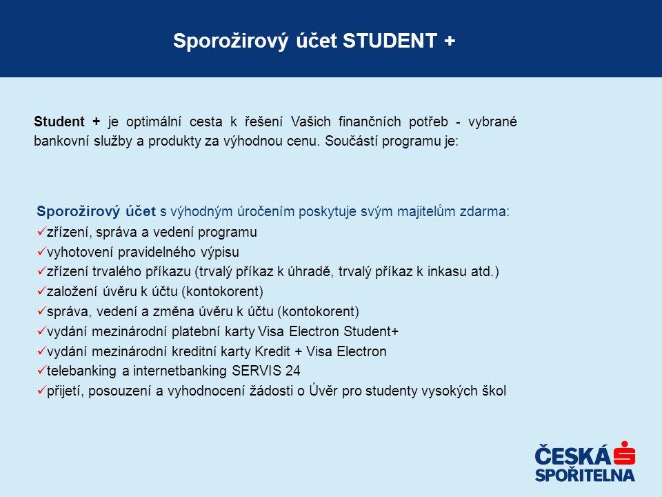 Sporožirový účet STUDENT +