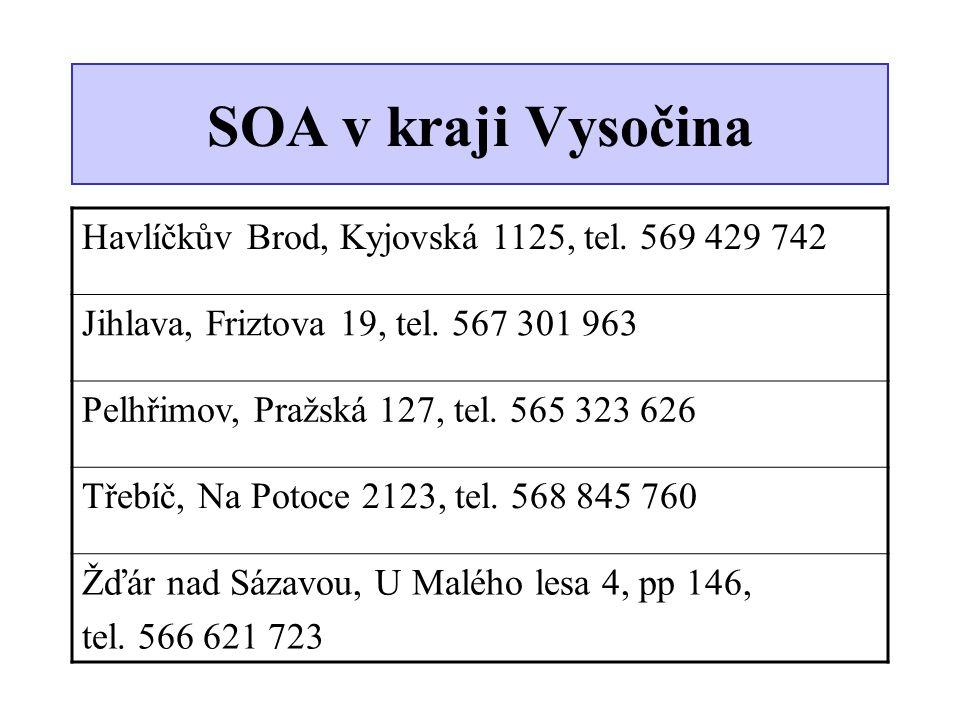 SOA v kraji Vysočina Havlíčkův Brod, Kyjovská 1125, tel. 569 429 742