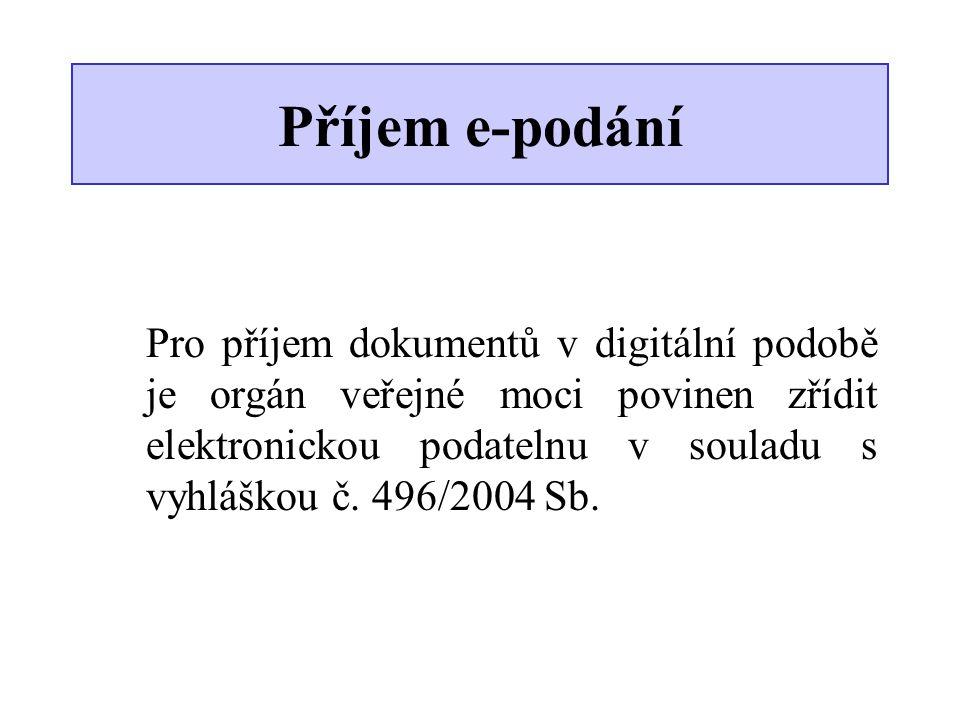 Příjem e-podání