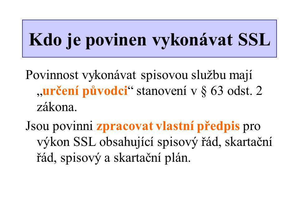 Kdo je povinen vykonávat SSL
