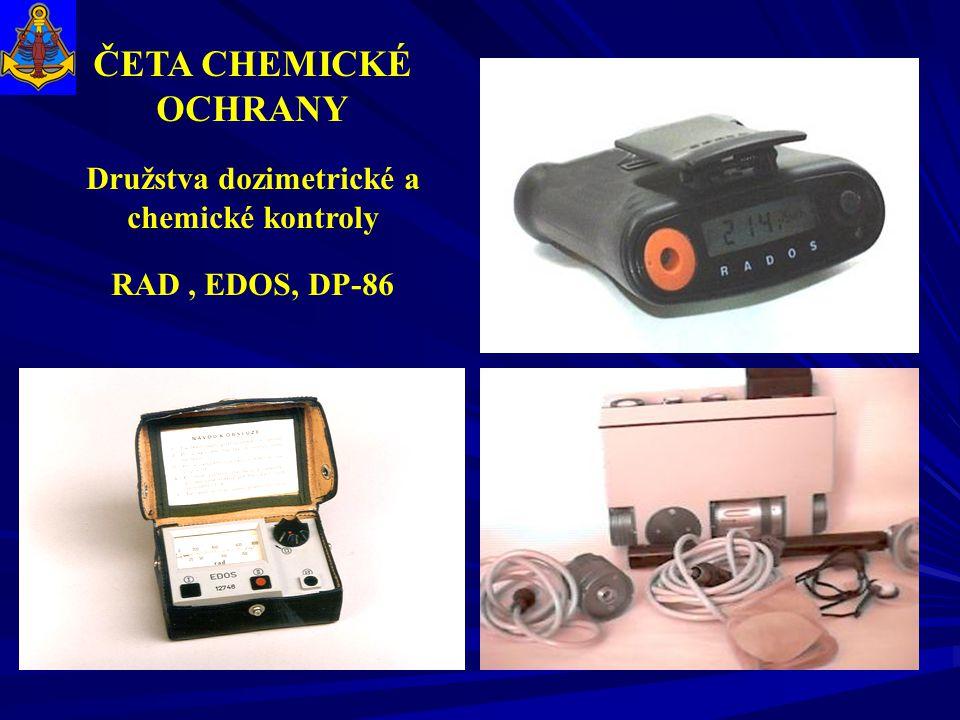 Družstva dozimetrické a chemické kontroly