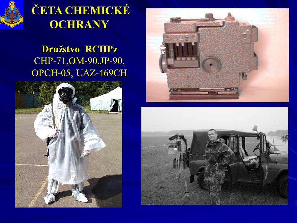 ČETA CHEMICKÉ OCHRANY Družstvo RCHPz CHP-71,OM-90,JP-90,