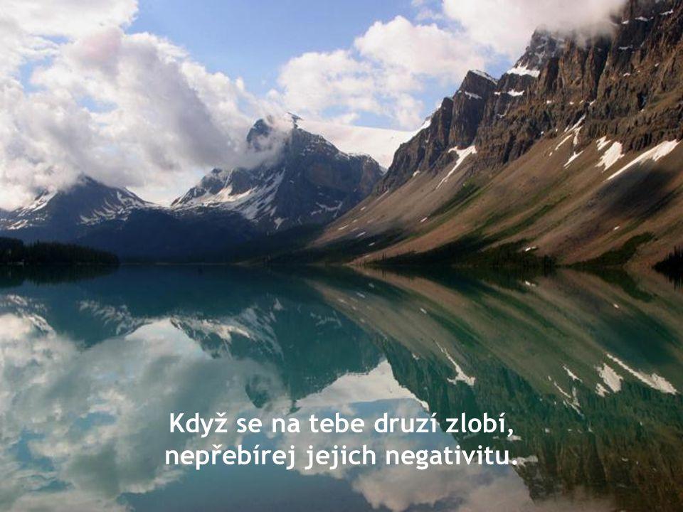 Když se na tebe druzí zlobí, nepřebírej jejich negativitu.