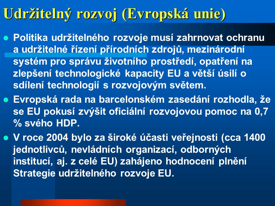 Udržitelný rozvoj (Evropská unie)