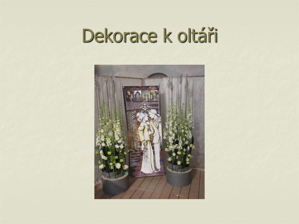 Dekorace k oltáři