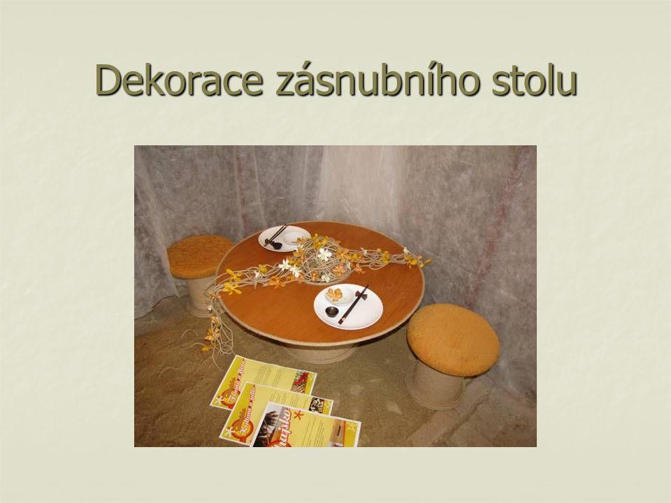 Dekorace zásnubního stolu