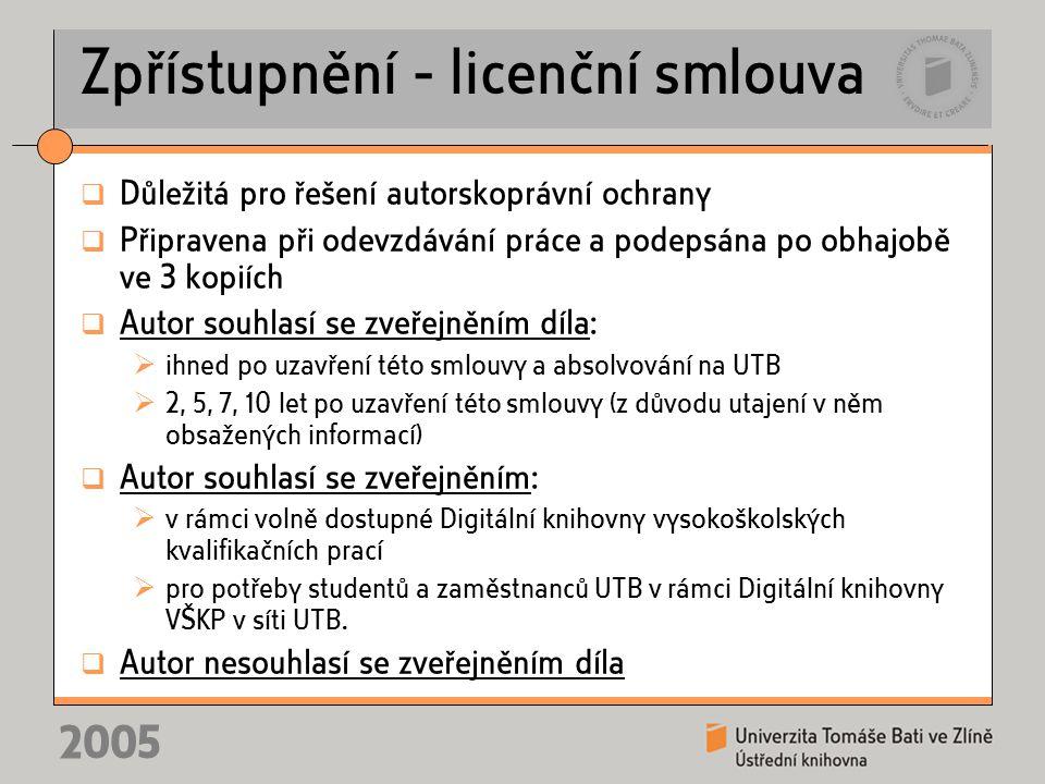 Problémy 2005 Převod do formátu PDF Skenování zadání