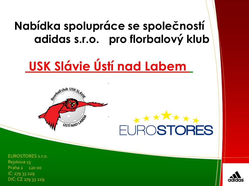 Nabídka spolupráce se společností adidas s.r.o. pro florbalový klub