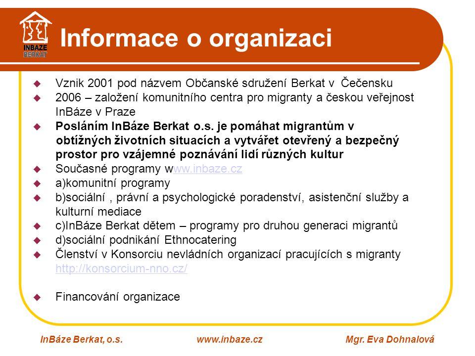 Informace o organizaci