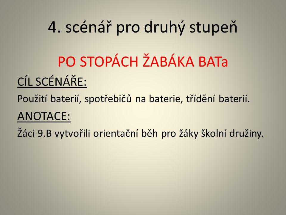 4. scénář pro druhý stupeň