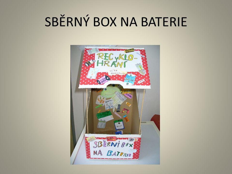 SBĚRNÝ BOX NA BATERIE