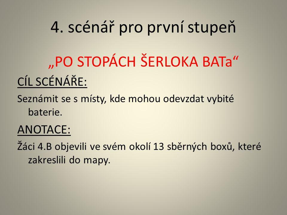 4. scénář pro první stupeň