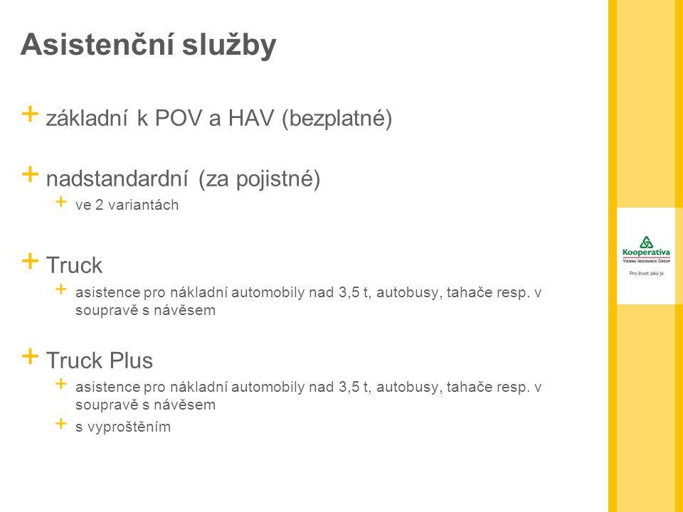 Asistenční služby základní k POV a HAV (bezplatné)