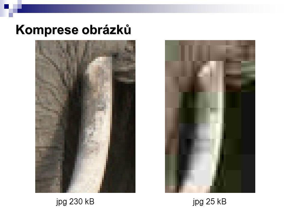 Komprese obrázků jpg 230 kB jpg 25 kB