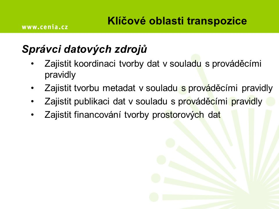 Klíčové oblasti transpozice