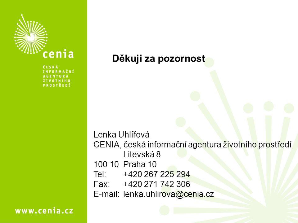 Děkuji za pozornost Lenka Uhlířová
