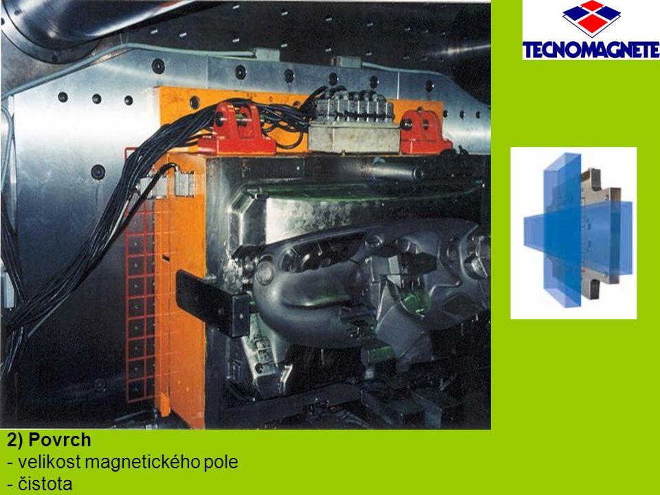 2) Povrch - velikost magnetického pole - čistota