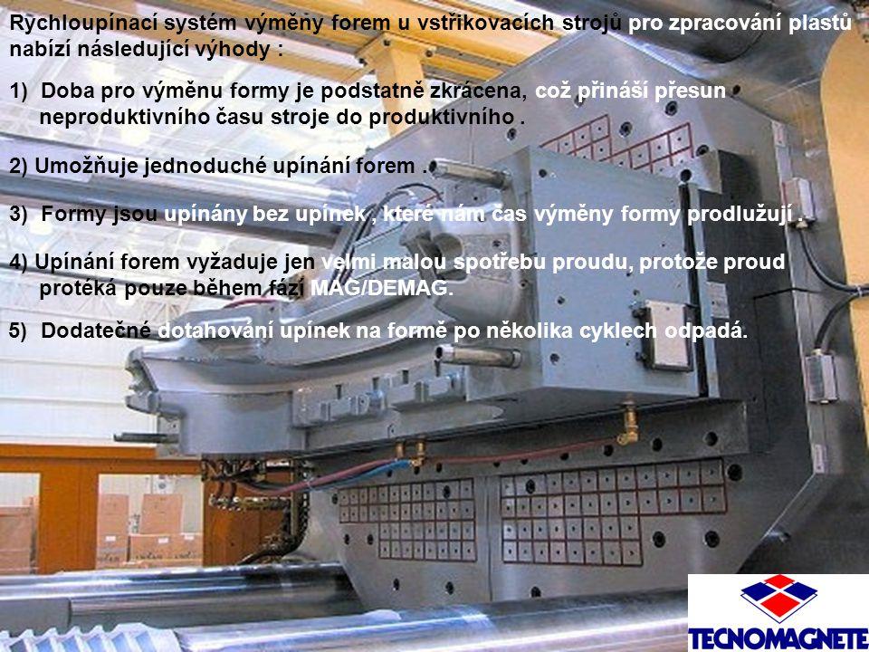 Rychloupínací systém výměny forem u vstřikovacích strojů pro zpracování plastů