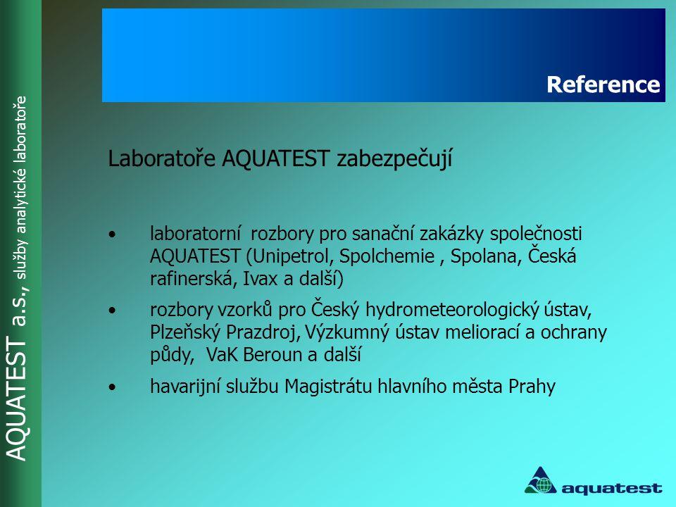 Laboratoře AQUATEST zabezpečují