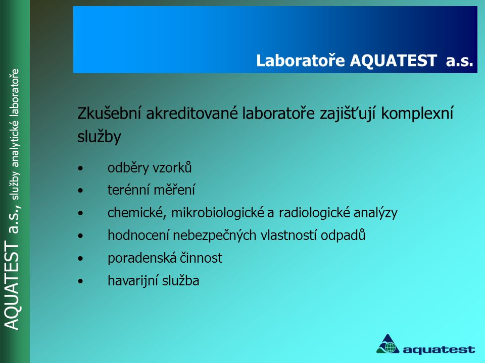 Laboratoře AQUATEST a.s.