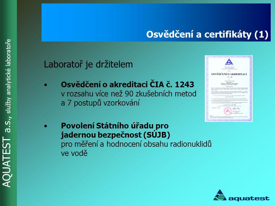 Osvědčení a certifikáty (1)