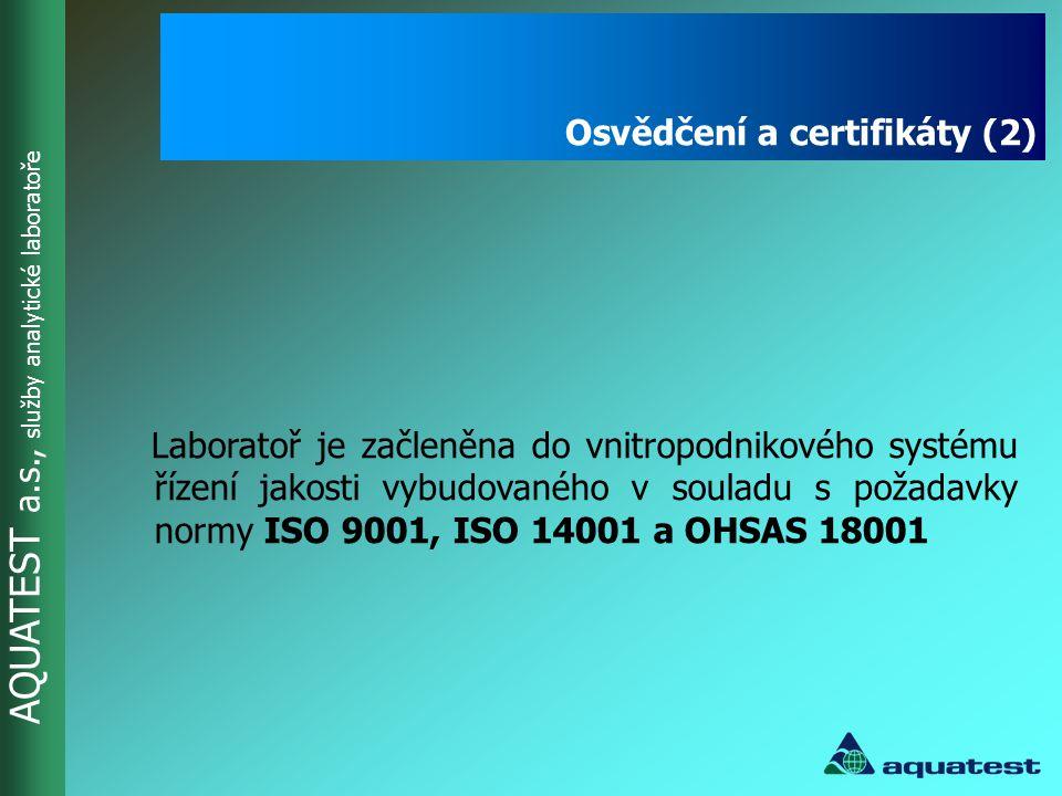 Osvědčení a certifikáty (2)
