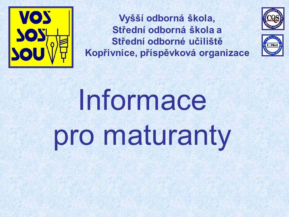 Informace pro maturanty