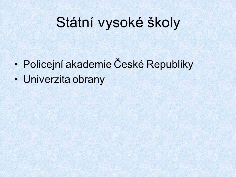 Státní vysoké školy Policejní akademie České Republiky