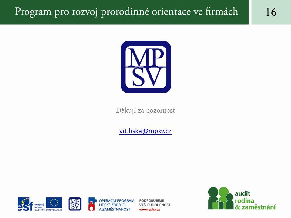 16 Děkuji za pozornost vit.liska@mpsv.cz