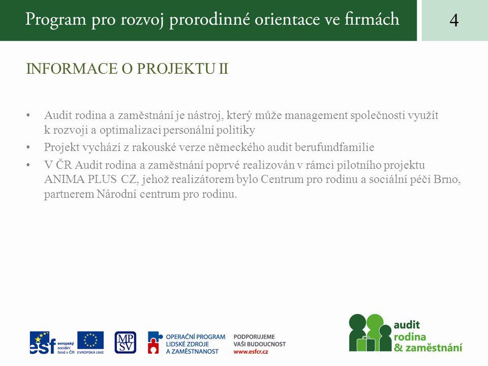 Informace o projektu II