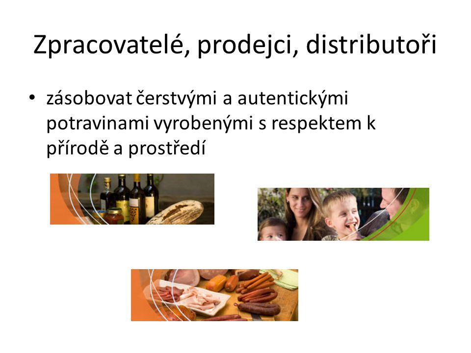 Zpracovatelé, prodejci, distributoři