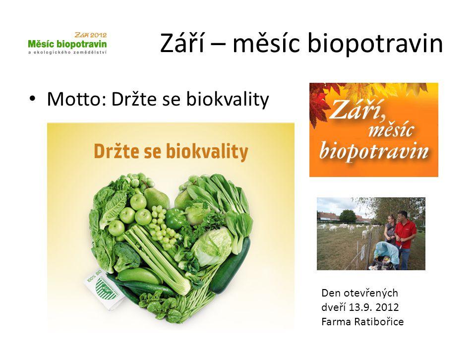 Září – měsíc biopotravin
