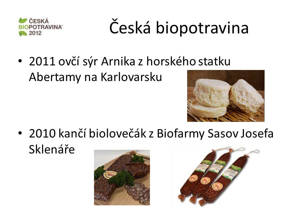 Česká biopotravina 2011 ovčí sýr Arnika z horského statku Abertamy na Karlovarsku.