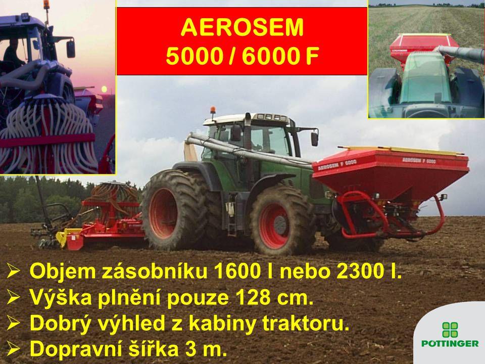 AEROSEM 5000 / 6000 F Objem zásobníku 1600 l nebo 2300 l.