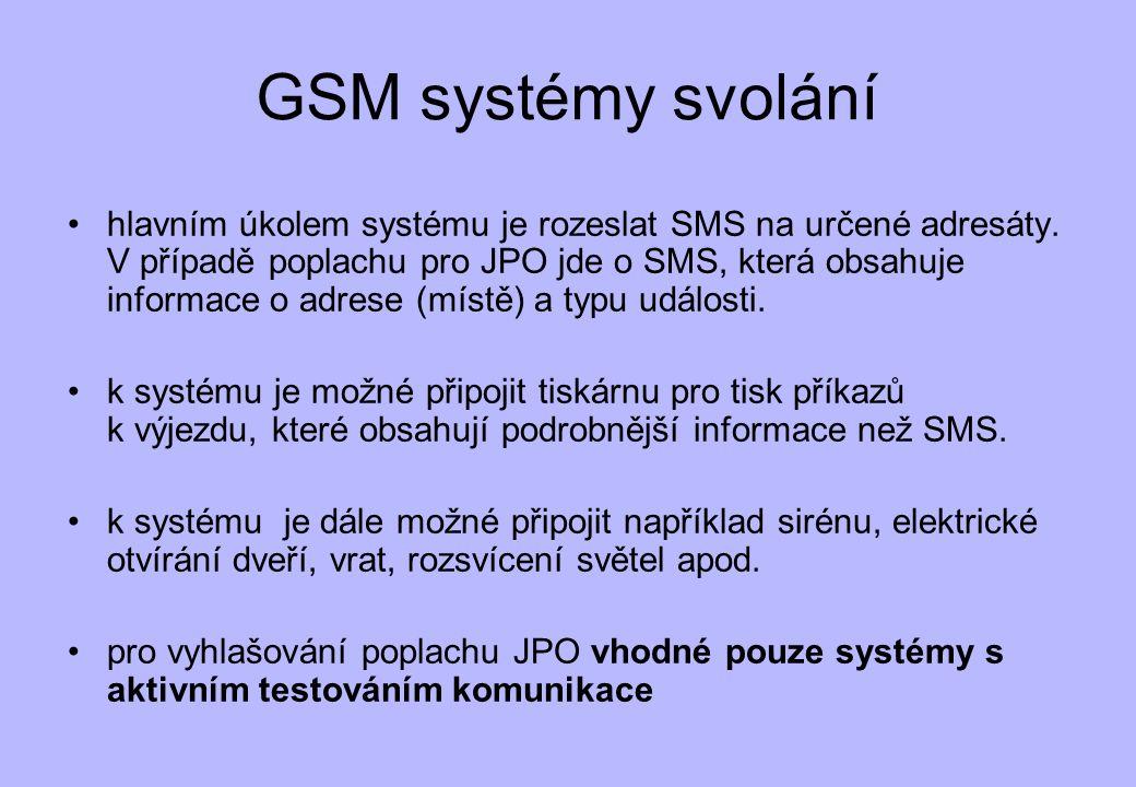 GSM systémy svolání