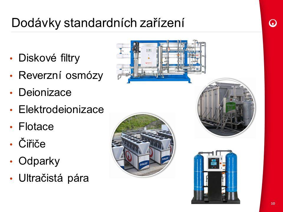 Dodávky standardních zařízení