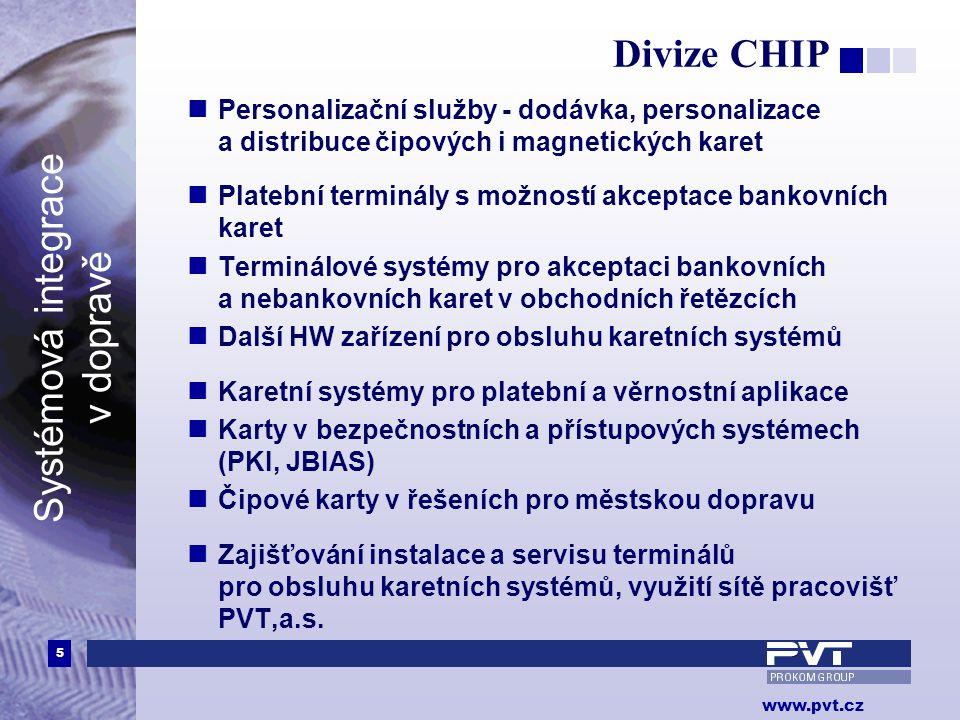 Divize CHIP Personalizační služby - dodávka, personalizace a distribuce čipových i magnetických karet.