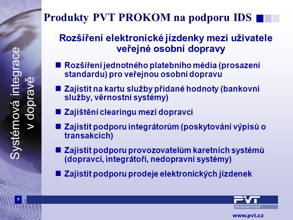 Produkty PVT PROKOM na podporu IDS