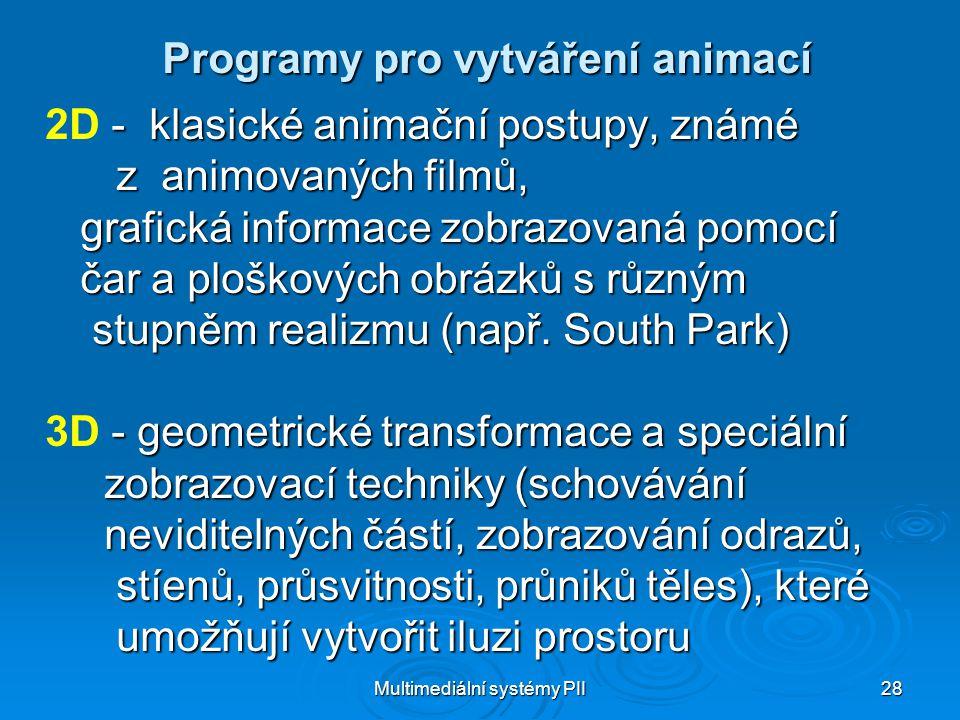 Programy pro vytváření animací