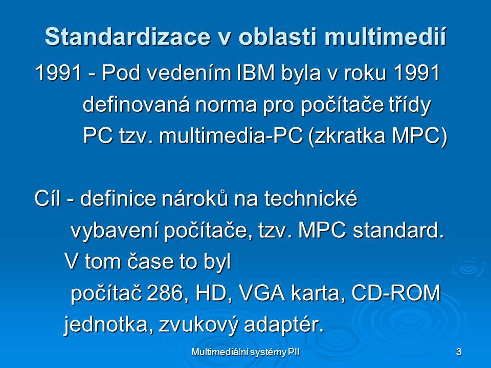 Standardizace v oblasti multimedií