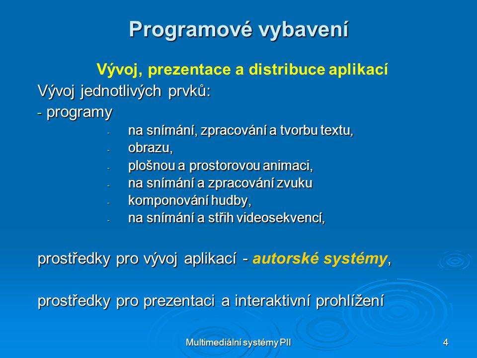 Vývoj, prezentace a distribuce aplikací