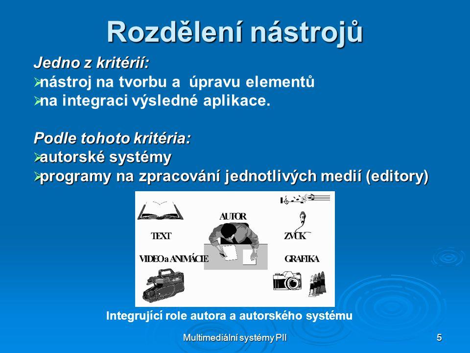 Multimediální systémy PII