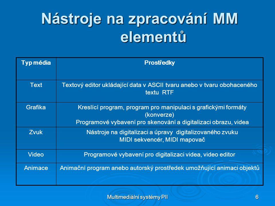 Nástroje na zpracování MM elementů
