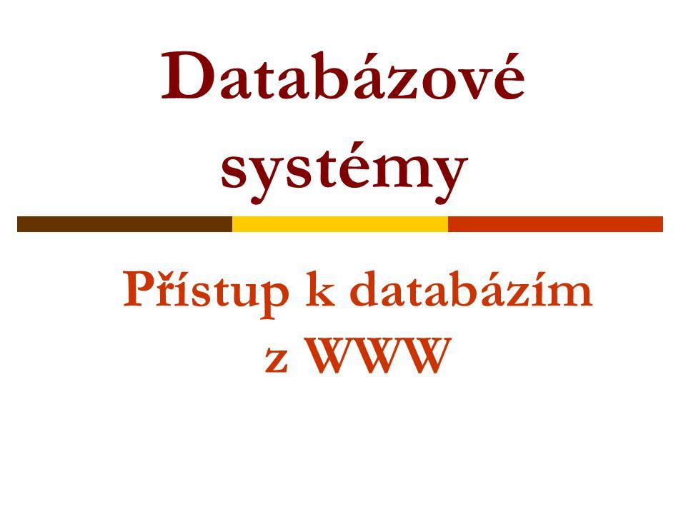 Přístup k databázím z WWW