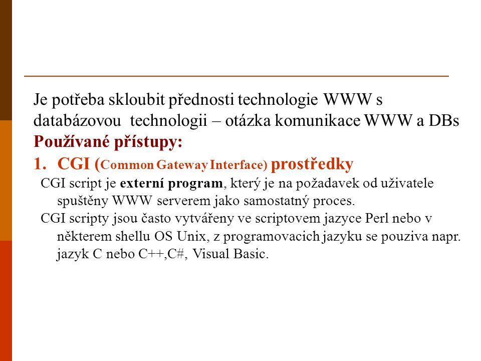 CGI (Common Gateway Interface) prostředky